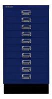 Schubladenschrank mit 10 Schubladen für DIN A3 Oxfordblau