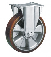Bockrolle auf Polyurethan-Bereifung 200 / Aluminium