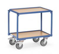 Fahrgestelle aus Stahl mit Holzplattform für einhängbare Deichsel 2