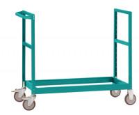 Schwerer Grundrahmen für Etagenwagen Varimobil, Höhe 1030 mm Wasserblau RAL 5021 / 1000 x 700