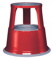 Rollhocker/Elefantenfuß Rot / Stahlblech