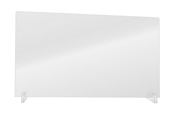 Transparente Hygieneschutzwand für Schreibtische