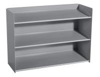 Sichtboxen-Regal Alusilber ähnlich RAL 9006