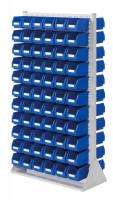 Stellwand mit Sichtlagerkästen, Doppelseitige Nutzung, Höhe 1790 mm 132 x Gr. 3