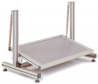 Fußstütze, aus Alu 15 / Fuß/Halbautomatisch