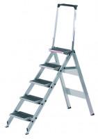 Sicherheitstreppen mit Stufenwahl, Stufe aus Kunststoff mit Sicherheitsbügel 4