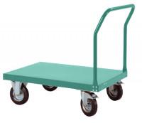 Schwerer Plattformwagen TRANSOMOBIL mit Bügel ohne Stirnwand Graugrün HF 0001 / 1000 x 700