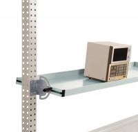Neigbare Ablagekonsolen für Stahl-Aufbauportale Lichtgrau RAL 7035 / 1750 / 495