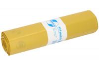 Abfallsäcke, LDPE mit 120 Liter Volumen Gelb / 60