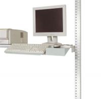 Tastaturträger mit Mausfläche, PACKPOOL Lichtgrau RAL 7035