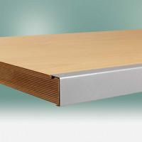 Werkbankplatte Multiplex geölt 50 mm, mit Stahlkante 1000 / 600