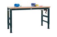 Grundwerkbank Linoleum 40 mm PROFI ERGO K Handkurbel 1500 / Anthrazit RAL 7016