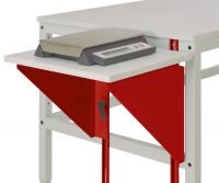 Höhenverstellbarer Tischansatz UNIVERSAL Rubinrot RAL 3003 / 1200