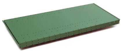Schwere Stahlfachböden, farbig gelocht