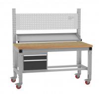 Komplett-Angebot PROFIPLAN mobil mit Buche-Platte, mit Aufbau und Gehäuse-Unterbau 1500 / Anthrazit RAL 7016