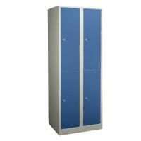 Doppelstöckiger Garderobenschrank - die Extrahohen Enzianblau RAL 5010
