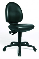 Arbeitsstuhl TECNIC-Line, Sitzhöhe 44 - 57 cm Schwarz