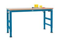 Grundwerkbank Linoleum 40 mm PROFI ERGO E Elektro mit Memory Funktion - Großformat 1000 / Brillantblau RAL 5007