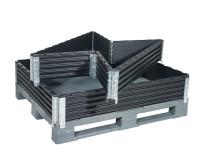 ABS-Paletten Aufsatzrahmen mit 4 Scharnieren 800 x 1200