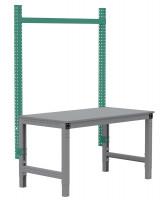PROFIPLAN Stahl-Aufbauportale ohne Ausleger, Grundeinheit 1250 / Graugrün HF 0001