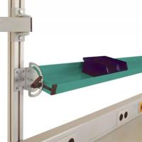 Neigbare Ablagekonsolen für Alu-Aufbauportale 1250 / 195 / Graugrün HF 0001