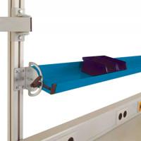 Neigbare Ablagekonsolen für Alu-Aufbauportale Brillantblau RAL 5007 / 1250 / 345