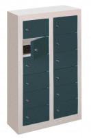 Kleinfachschrank, Anzahl Fächer: 8 Anthrazit RAL 7016 / Glatte Türen