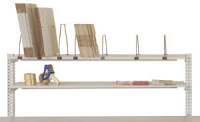 Ablage für PACKPOOL mit Tischbreite 1500 mm 500 / 3 x groß, 2 x klein