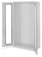 Schwerlast-Werkzeugschränke ohne Mitteltrennwand, Höhe 1950 mm, mit Sichtfenstertüren zur Selbstbestückung / Lichtgrau RAL 7035