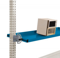 Neigbare Ablagekonsolen für Stahl-Aufbauportale Brillantblau RAL 5007 / 1750 / 345