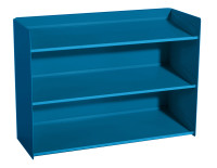 Sichtboxen-Regal Brillantblau RAL 5007