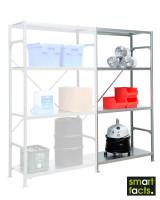 Fachbodenregal SMARTFACTS, Anbauregal mit Stahlböden, Höhe 2000 mm 500 / 2000
