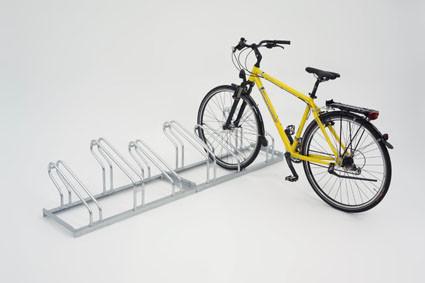 Fahrradständer verzinkt mit einseitiger Radeinstellung 90° mit Stellraumtiefe von 1850 mm, zum Aufdü
