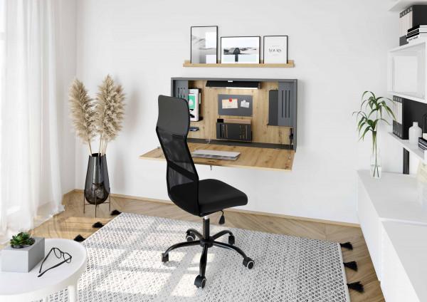 Klappbarer Wandschreibtisch-/Sekretär Mini-Office