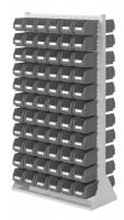 Stellwand mit Sichtlagerkästen, Doppelseitige Nutzung, Höhe 1790 mm 132 x Gr.  4