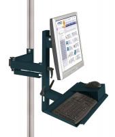 Ergo-Monitorträger mit Tastatur- und Mausfläche leitfähig 75 / Anthrazit RAL 7016