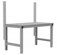 MULTIPLAN Stahl-Aufbausäulen, Anbaueinheit Lichtgrau RAL 7035