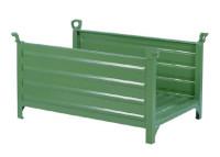 Stapelbehälter für Langgut, mit 2 Wänden Grün / 1200 x 1000