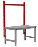 MULTIPLAN Stahl-Aufbauportale ohne Ausleger, Grundeinheit 1000 / Rubinrot RAL 3003
