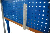 Tisch-Halterung für Loch- und Schlitzplattensystem Für 1 Platte