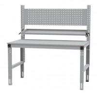 Komplettarbeitstische MULTIPLAN Standard Modell 12 Lichtgrau RAL 7035