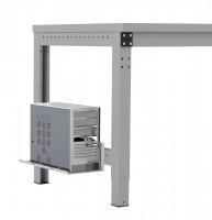 Mini-CPU-Halter für MULTIPLAN / PROFIPLAN Lichtgrau RAL 7035