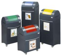 Design-Sammelbehälter 45 / Enzianblau RAL 5010