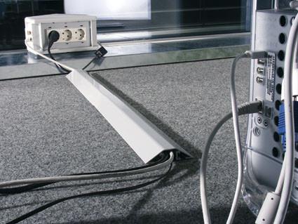 Kabelbrücke aus Aluminium, 20 mm hoch