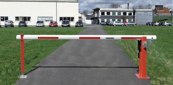 Schließzwang für Wegesperren mit Doppel-Gasdruckfeder