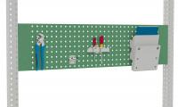 Werkzeug-Lochplatten für MULTIPLAN/PROFIPLAN Resedagrün RAL 6011 / 1250