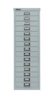 Schubladenschrank mit 15 Schubladen für DIN A4 Silber