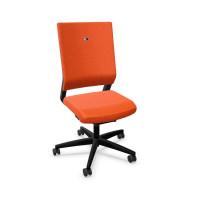 Bürodrehstuhl Meran Stoffpolster / Orange