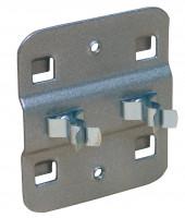 Doppelte Werkzeugklemme Alusilber RAL 9006 / 19