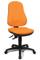 Bürodrehstuhl Basis mit Bandscheibensitz Orange